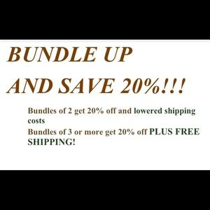 Great Bundle offer save on bundles and shipping!!!
